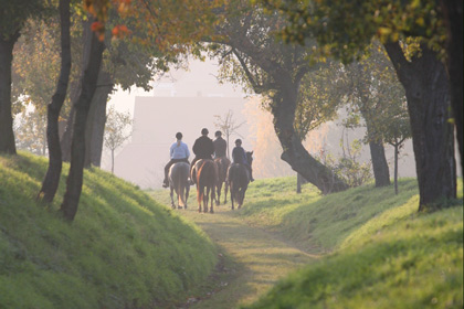 Reiter auf einem romatischen Weg