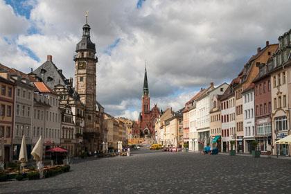 Altenburger Markt mit Brüderkirche