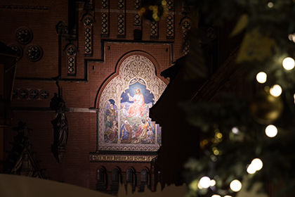 Wandbild Altenburger Brüderkirche, Jesus Christus als Licht