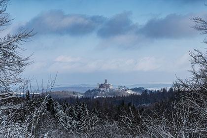 die Wartburg bei Eisenach an einem kalten Morgen